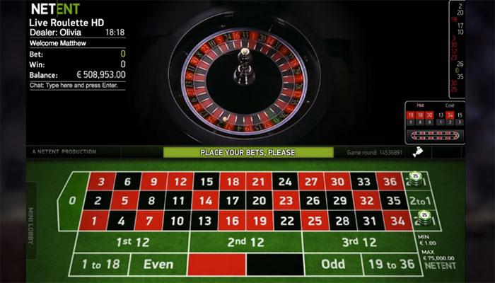 NetEnt Live Roulette Casino Spiele